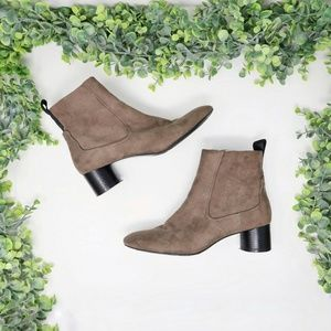 Zara TRF Ankle Booties Suede Tan - Size 6.5 or 37
